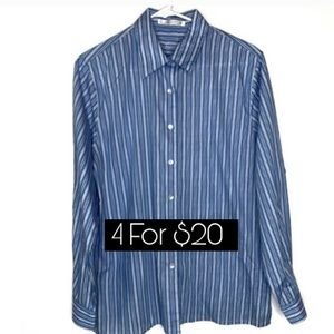 Foxcroft Wrinkle Free Button Up Shirt Size 12